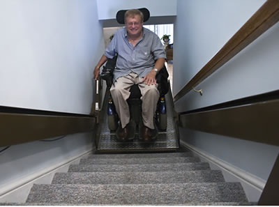 Male in stairlift